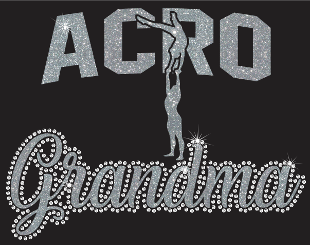 Acro Grandma Vinyl and rhinestone transfer
